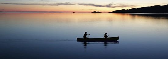 twilight canoeing