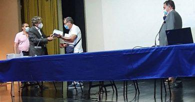 Ministro no Auditório da Gandaia